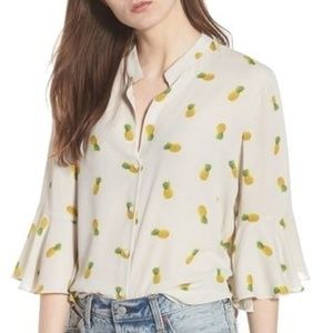 Lush Pineapple Print Blouse Top Nordstrom